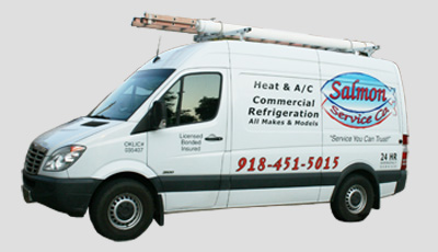 HVAC repair van in the Tulsa area.