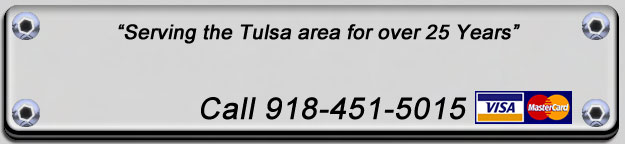 Phone number for Tulsa area service company.